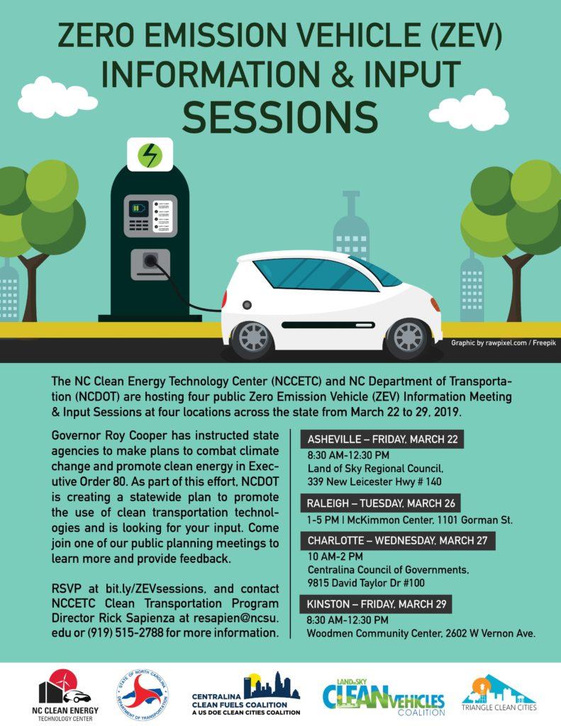 Zero Emission Vehicle (ZEV) Information & Input Sessions